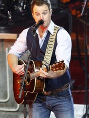 Easton Corbin performs during Carrie Underwood's The