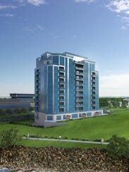 Rendering of the Bluewater View condo project