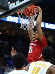 Arkansas forward Daniel Gafford is returning for his sophomore season and is expected to become the centerpiece of the Razorbacks' offense next year.