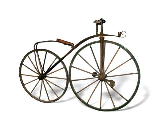 Velocipede, ca. 1869. Credit: Courtesy of Budget Bicycle