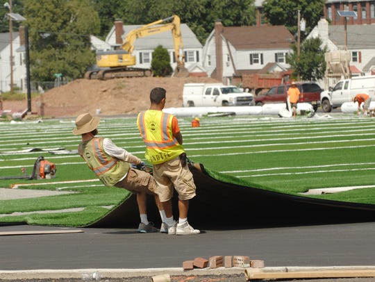 The FieldTurf playing surface installed at Clifton