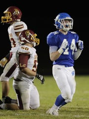Wrightstown's Mason Rogers (44) was the North Eastern