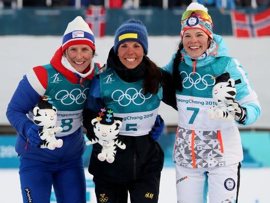 2018 OLYMPICS: CROSS COUNTRY SKIING-WOMENS 2 X 7.5K