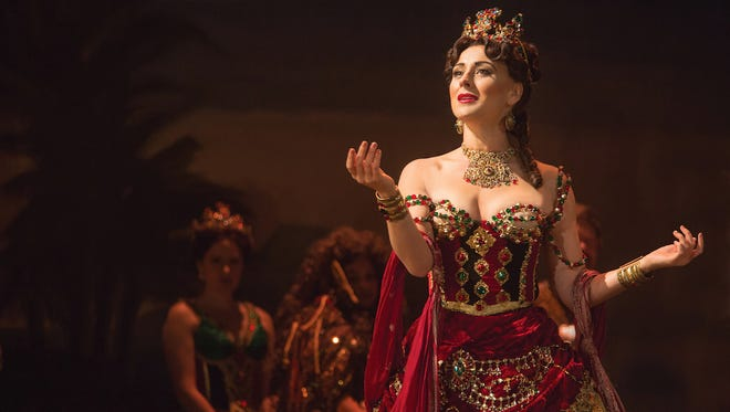 """Jacquelynne Fontaine plays Carlotta in the touring production of """"The Phantom of the Opera"""" at ASU Gammage."""