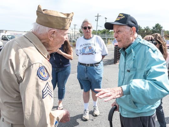 World War II veterans  Hjalmar Johansson, 92, of Montville,
