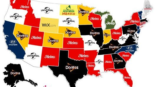 Top Super Bowl 50 commercials by state according to USA TODAY's Ad Meter.
