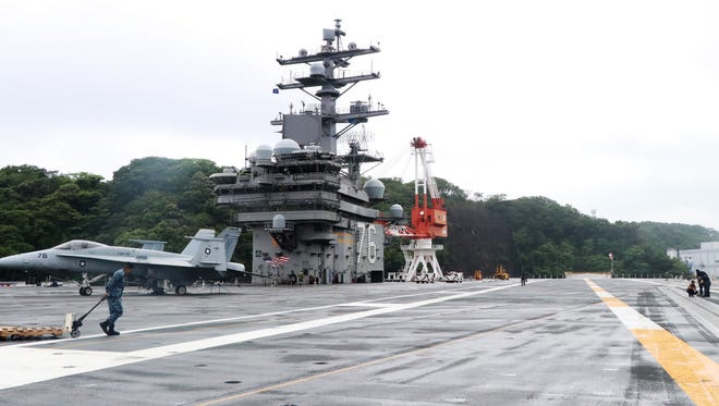 The USS Ronald Reagan is the United States' only forward deployed aircraft carrier. The nuclear-powered carrier is home-ported in Yokosuka, Japan.