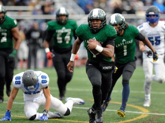Rodney Hall threw five TD passes in Detroit Cass Tech's state title game win.