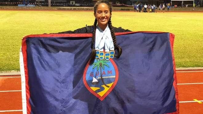 Micronesia's queen of middle and long distance, Genina Criss,left a golden wake in each of her events at the 9th Micronesian Games in Yap: the 10,000 meters, 5,000 meters, 1,500 meters and 800 meters.