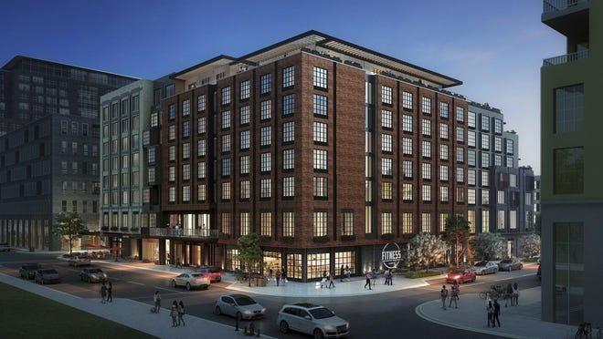 An artist's rendering of the hotel being built by Rockbridge as part of The Peninsula