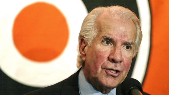 Flyers owner Ed Snider voiced his displeasure with the team?s slow start during a November interview.  AP Philadelphia Flyers' owner Ed Snider briefly sounded off Friday regarding the National Hockey League lockout, the same night he attended the grand opening of the fourth refurbished hockey rink for his charity.  AP Photo FILE - In this Feb. 16, 2004, file photo, Philadelphia Flyers' owner Ed Snider responds to a question during a news conference in Philadelphia. Snider will be inducted into the United States Hockey Hall of Fame during a ceremony in Chicago on Monday, Dec. 12, 2011. Snider brought hockey to Philadelphia, owned the Flyers during the days of the Broad Street Bullies and their rough-and-tumble heyday, and still takes his seat each home game to watch Claude Giroux and Jaromir Jagr lead this season's team to the top of the Eastern Conference standings. (AP Photo/George Widman, File)