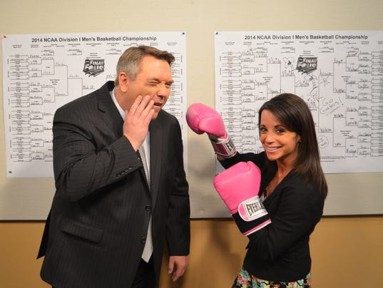 John anderson and hollie strano square off with march madness brackets