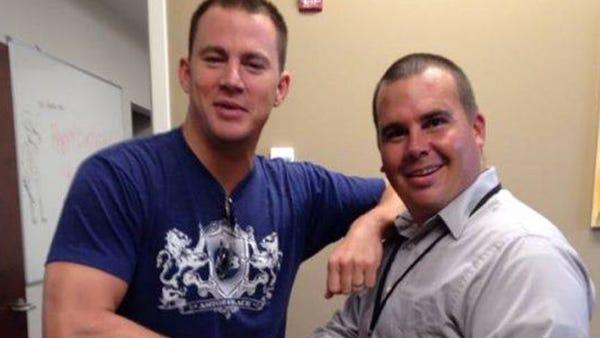 Channing Tatum visiting the Hancock County Sheriff's Office