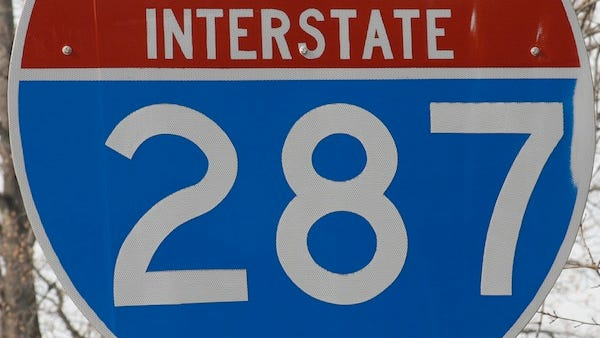 Interstate 287 road sign.