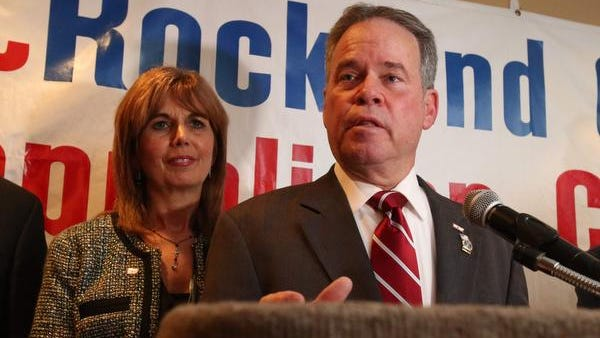 Ed Day speaks after winning the Rockland county executive's election in November.