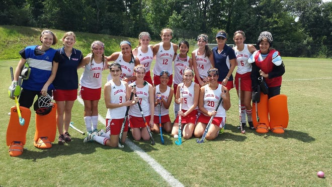 Abigail Ward (13) plays three sports at Carolina Day, including field hockey.