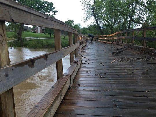 Wooden bridges at the Rivercut Golf Course have been