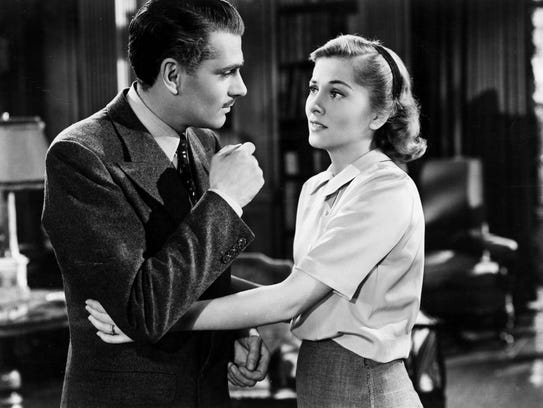 Laurence Olivier and Joan Fontaine in 'Rebecca.'