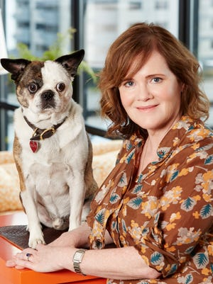 Author Maria Semple and her dog, Ralphy.