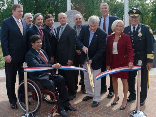A ribbon-cutting ceremony was held Sept. 12 at the new Veterans Park on West Somerset Street in Raritan Borough.