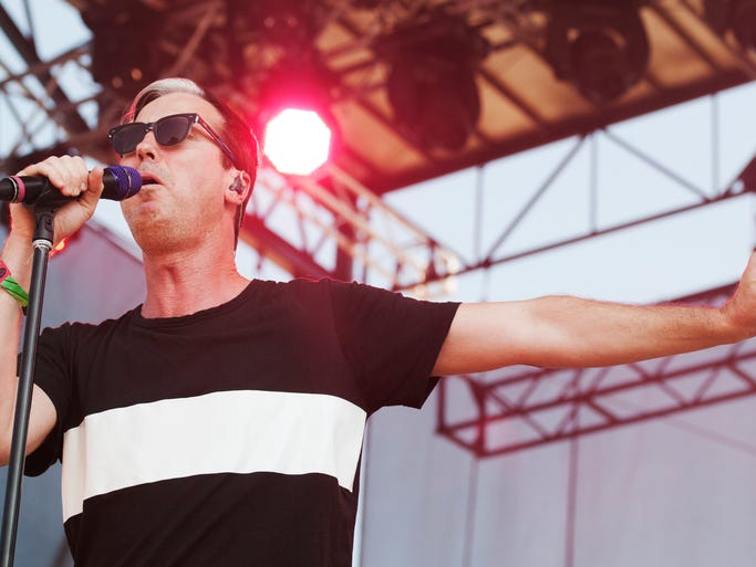 Fitz and the Tantrums at the Bonnaroo Music  & Arts Festival on Sunday, June 15, in Manchester, Tenn.