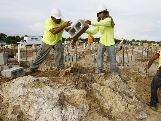 The construction site of Estero Oaks at Estero Parkway