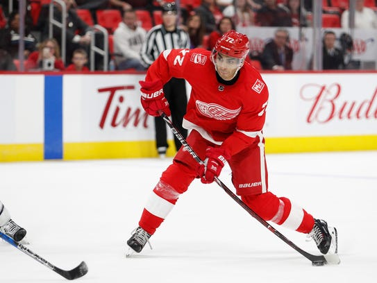 Could Red Wings left wing Andreas Athanasiou entice teams into making an attractive trade offer?