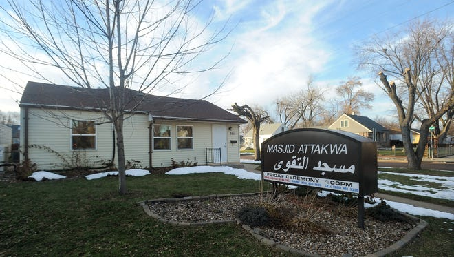 Masjid Attakwa, a mosque in Sioux Falls, at the corner of Garfield Avenue and 15th Street. The facility is one of three mosques in Sioux Falls.