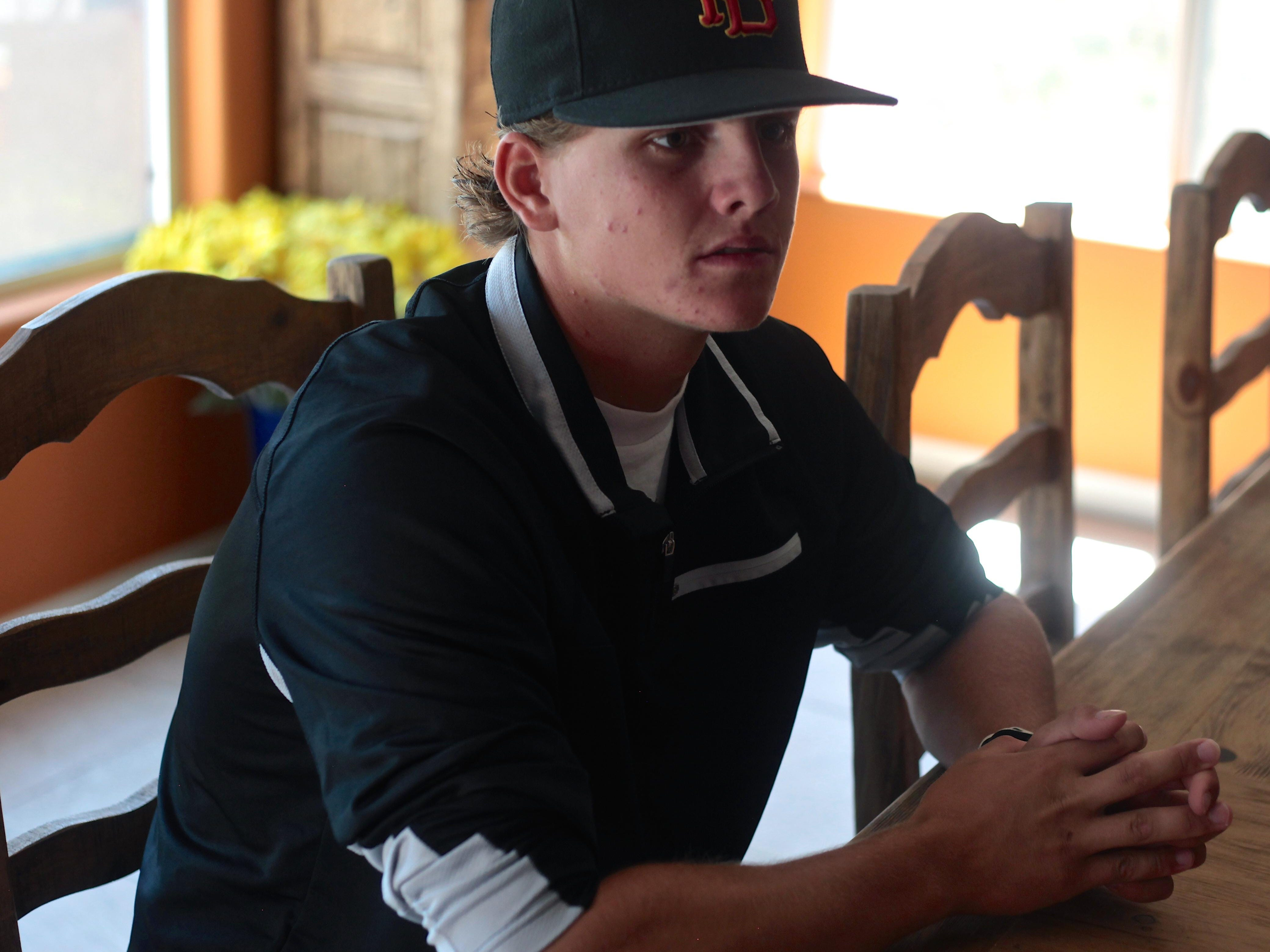 Travis Moniot, 17, could be selected in next week's 2015 MLB First-Year Player Draft after graduating from Palm Desert High School in May.