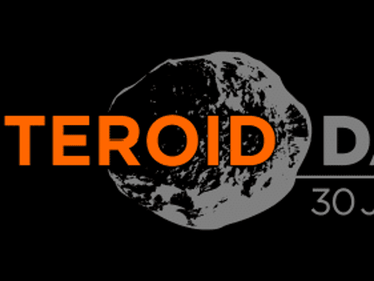 Official Asteroid Day logo.