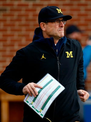 Here's our best guess as to who'll be the starters for Jim Harbaugh and Michigan football for 2018.