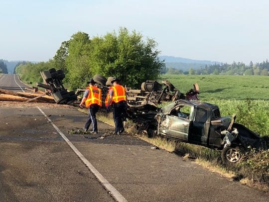 A fatal crash on Highway 99W left one dead Thursday