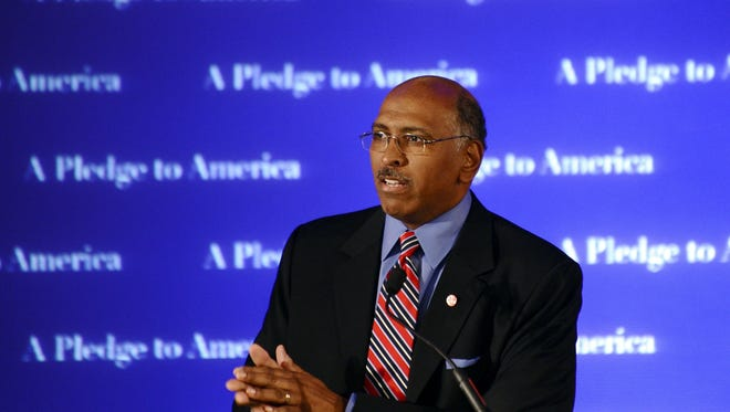 Michael Steele speaks during RNC Election Night results watch event in Washington, D.C. on Nov. 2, 2010.
