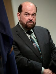 Dearborn Mayor Jack O'Reilly during a press conference