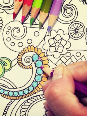 Believe it or not, coloring is a form of meditation that can calm the nerves.