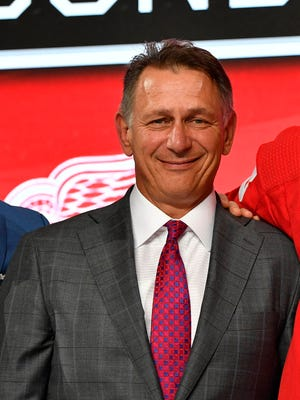 Detroit Red Wings general manager Ken Holland at the 2018 NHL draft in Dallas on June 22.