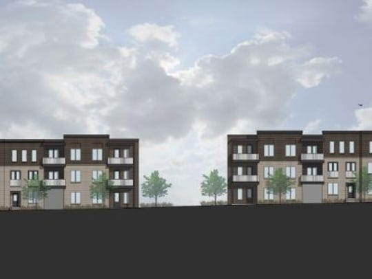An elevation of the project planned at 900 Dickerson