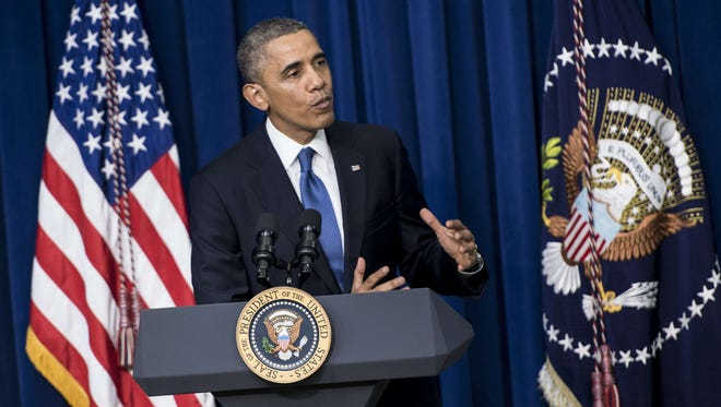 President Obama speaks about health care at the White House on Wednesday.