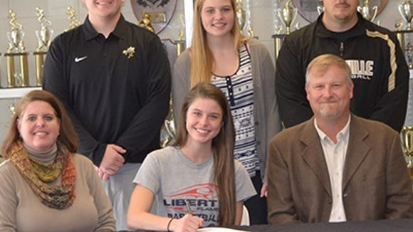 Hayesville senior Stephanie Patton has signed to play college basketball for Liberty.