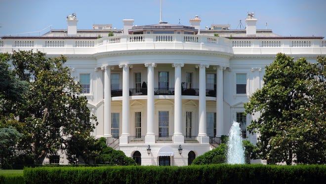 White House in Washington, DC. US President's Office.