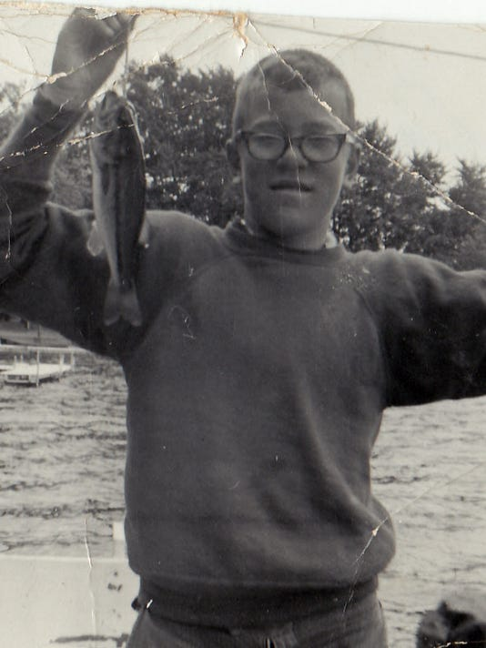 Author with bass in 1964..jpg