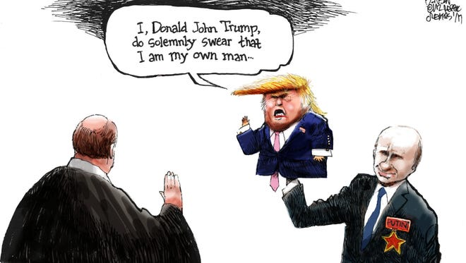 Cartoon for Jan. 18, 2017.