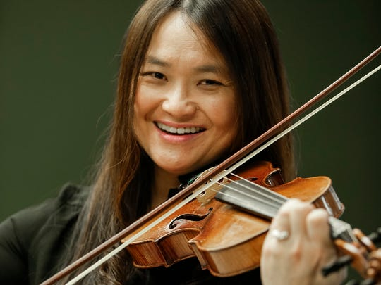 Musician Sonia Lee poses for a photo at Novi Ice Arena