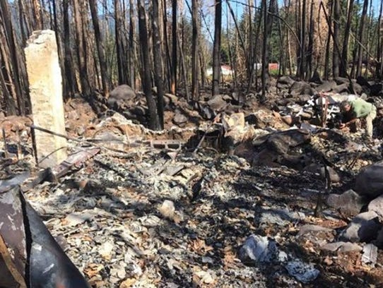 The Dodson home after the Eagle Creek Fire.