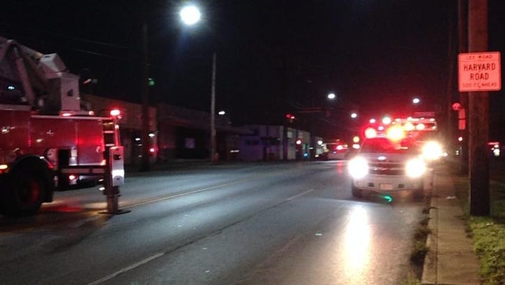 Fire closes Lee Rd between Judson Dr and Harvard Ave on Cleveland's east side.