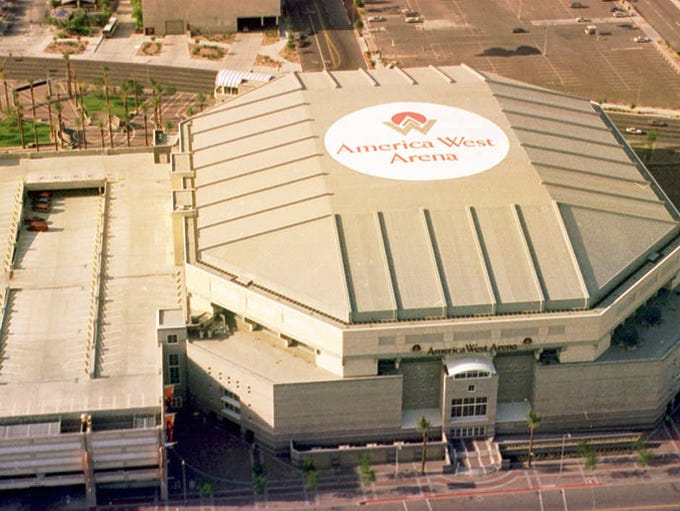 The America West Arena, home of the Phoenix Suns basketball