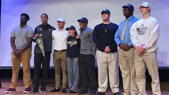 Eight senior athletes were honored at Paramus Catholic's