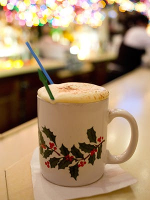 A Tom and Jerry is hot and frothy.