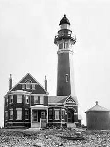 The Braddock Point Lighthouse in earlier times.