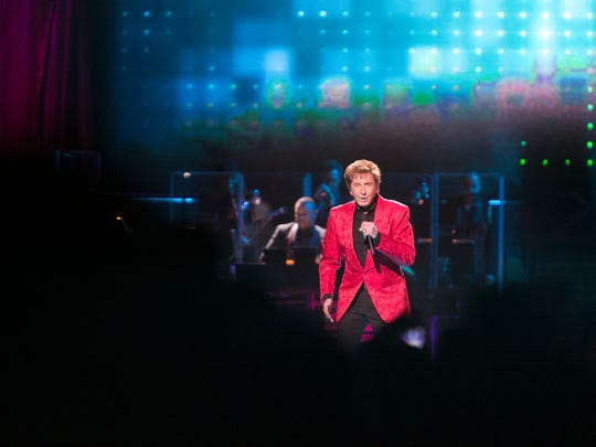 Barry Manilow performs at Gila River Arena, Wednesday, April 8, 2015, in Glendale.